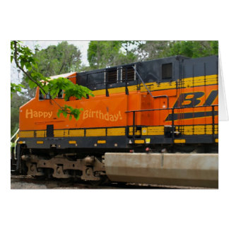 Orange Train (Birthday Card #2)