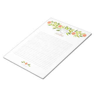 Orange Tree Cat XL Notepad