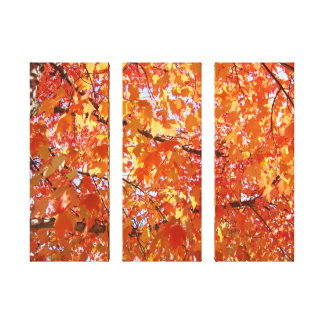 Orange Tree Leaves art prints gifts Fall Landscape Canvas Print