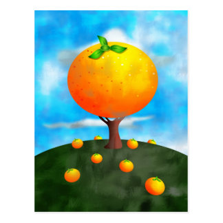 Orange Tree Postcard
