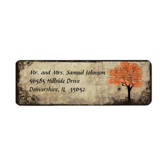 Orange Tree Return Address Label