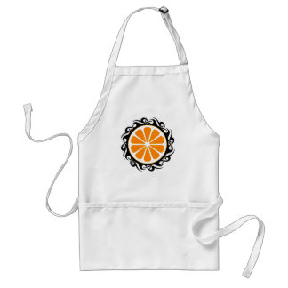 orange. tribal. standard apron
