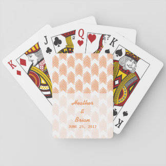 Orange Tribal Arrows Playing Cards