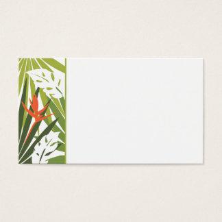 Orange Tropical Floral Wedding Tag