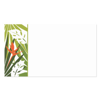 Orange Tropical Floral Wedding Tag Business Cards