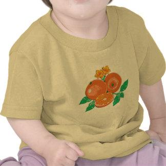 orange tee shirt