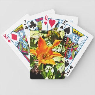 Orange Tulip Bicycle Playing Cards