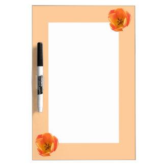 Orange Tulip Memo Board