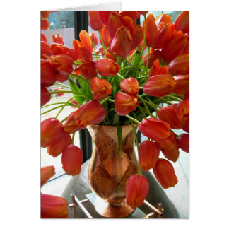Orange Tulip Note Card