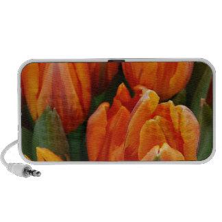 Orange Tulips Flower Garden Spring Mini Speaker