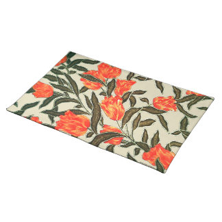 """Orange Tulips"" Muslin Placemat"
