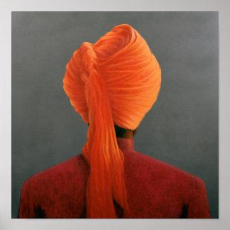 Orange Turban Poster