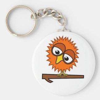 Orange Tweet Basic Round Button Key Ring