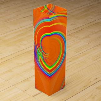 Orange Twirl Wine Bottle Box