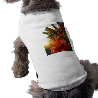 Orange Un Bloomed Sleeveless Dog Shirt