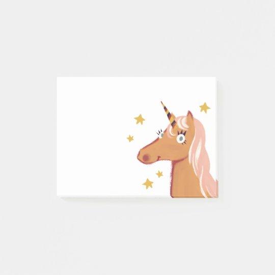 Orange Unicorn Post-it notes
