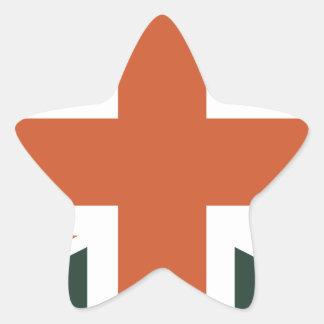 Orange Union Jack British(UK) Flag Star Sticker