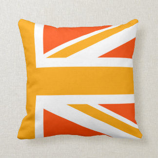 Orange Union Jack Half Cushion