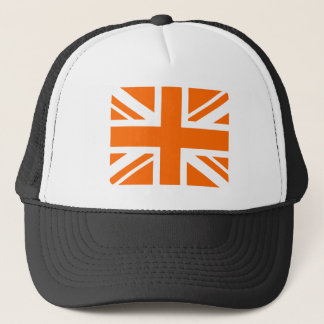 Orange Union Jack Trucker Hat