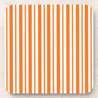 Orange Vertical Pinstripe Coaster