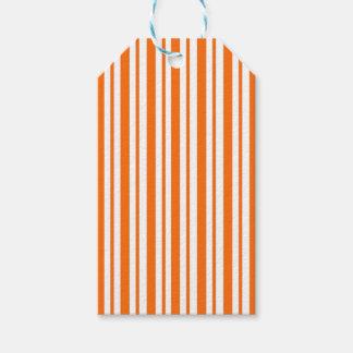 Orange Vertical Pinstripe Gift Tags