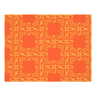 Orange Vintage Retro Pattern Flyers