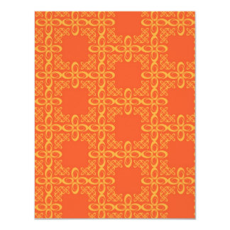 Orange Vintage Retro Pattern Custom Announcement