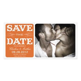 ORANGE VINTAGE  | SAVE THE DATE ANNOUNCEMENT CARD