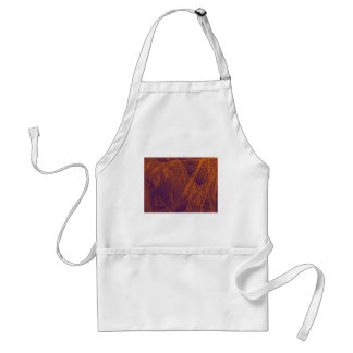 orange violet fabric standard apron