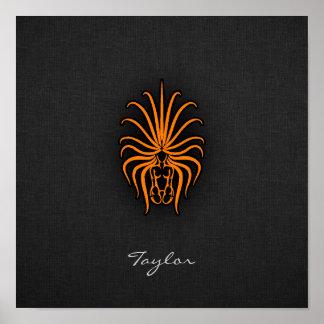 Orange Virgo Print