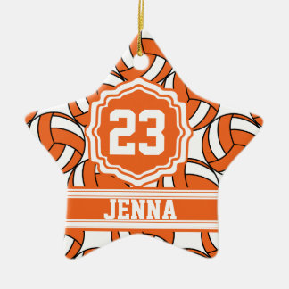 Orange Volleyball | Personalize Ceramic Star Decoration