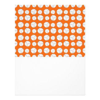 Orange volleyballs pattern flyers