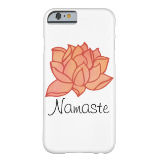 Orange Water Color Lotus Namaste Case Barely There iPhone 6 Case
