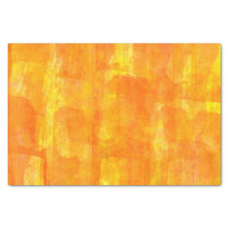 Orange Watercolor All-Over Print Tissue Paper