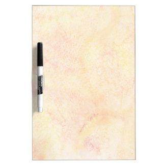 Orange Watercolor Background Dry Erase Board