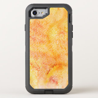 Orange Watercolor Background OtterBox Defender iPhone 8/7 Case