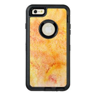 Orange Watercolor Background OtterBox Defender iPhone Case