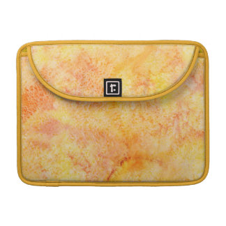 Orange Watercolor Background Sleeves For MacBook Pro