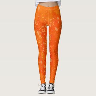 Orange Watercolor Leggings