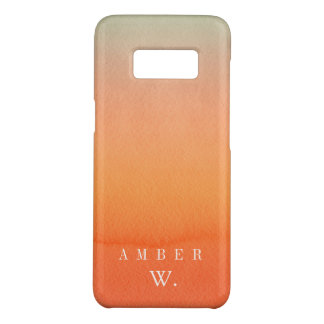 Orange Watercolor Wash Personalized Case-Mate Samsung Galaxy S8 Case