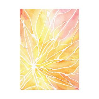 Orange Watercolour Marble Break Canvas