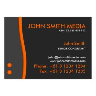 Orange Wave Business Card (Dark)