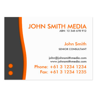 Orange Wave Business Card (Light)