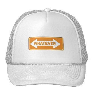 ORANGE WHATEVER ARROW ATTITUDE SHOUTOUT EXPRESSION CAP