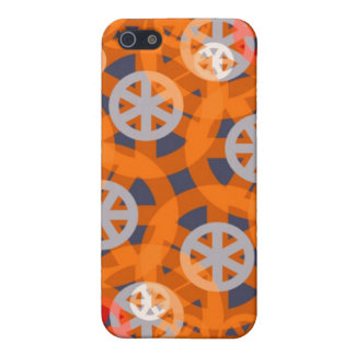 Orange Wheel Abstract Pattern iPhone 4 Speck Case iPhone 5 Case