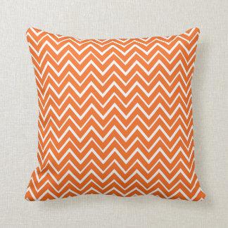 Orange whimsical zigzag chevron pattern pillow throw cushion
