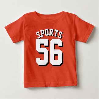Orange & White Baby | Sports Jersey Design Infant T-Shirt