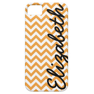 Orange White Chevron Pattern Barely There iPhone 5 Case