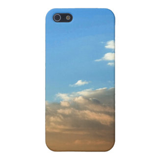 Orange & White Clouds against Blue Sky iPhone case Case For iPhone 5