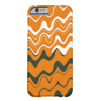 Orange White Grey Sea Wavy Stripes Pattern Barely There iPhone 6 Case
